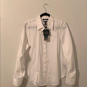 White Lauren Ralph Lauren button up.